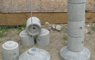 EZ-TUBE stackable precast concrete pier footing system