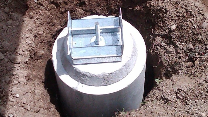 Ez Tube Precast Concrete Deck Footing Forget Mixing