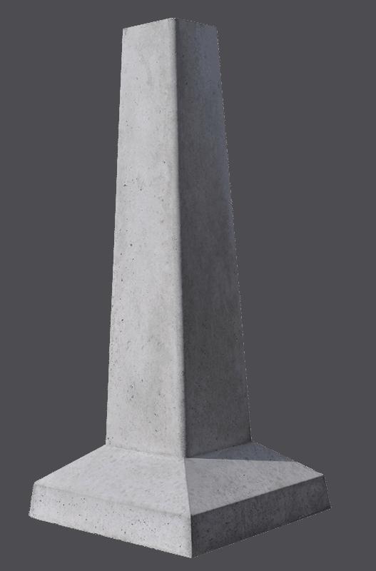 solid precast concrete deck footing