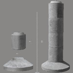 EZ-TUBE Precast Concrete Footing
