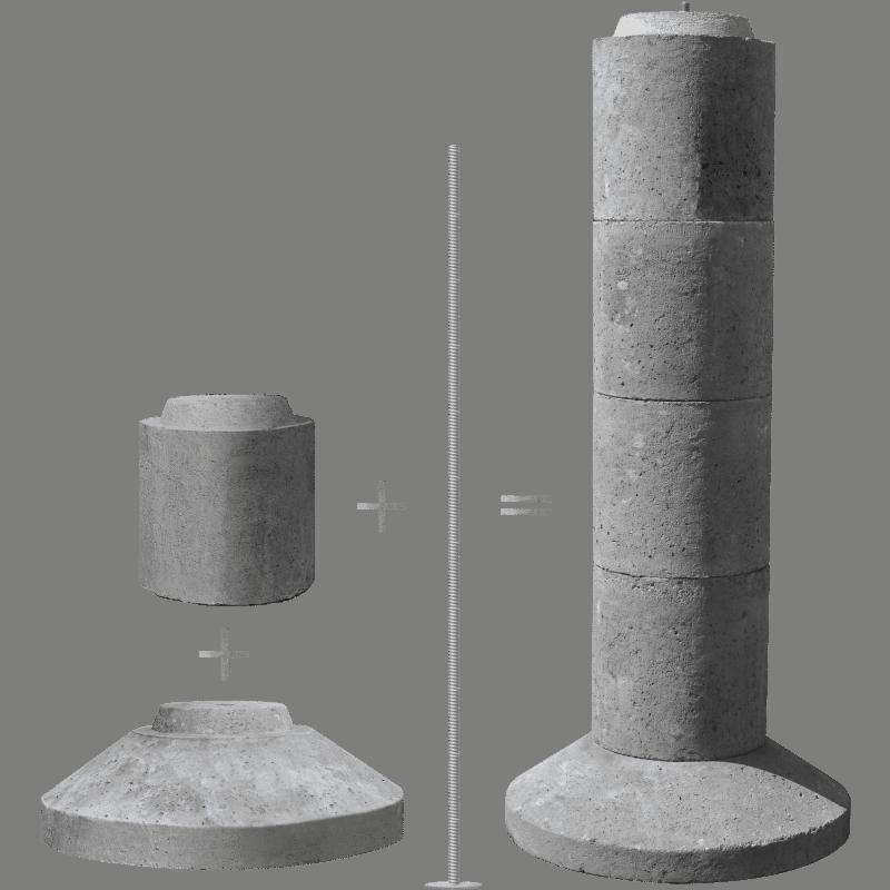 EZ-TUBE Precast Stackable Deck Footing - EZ-CRETE